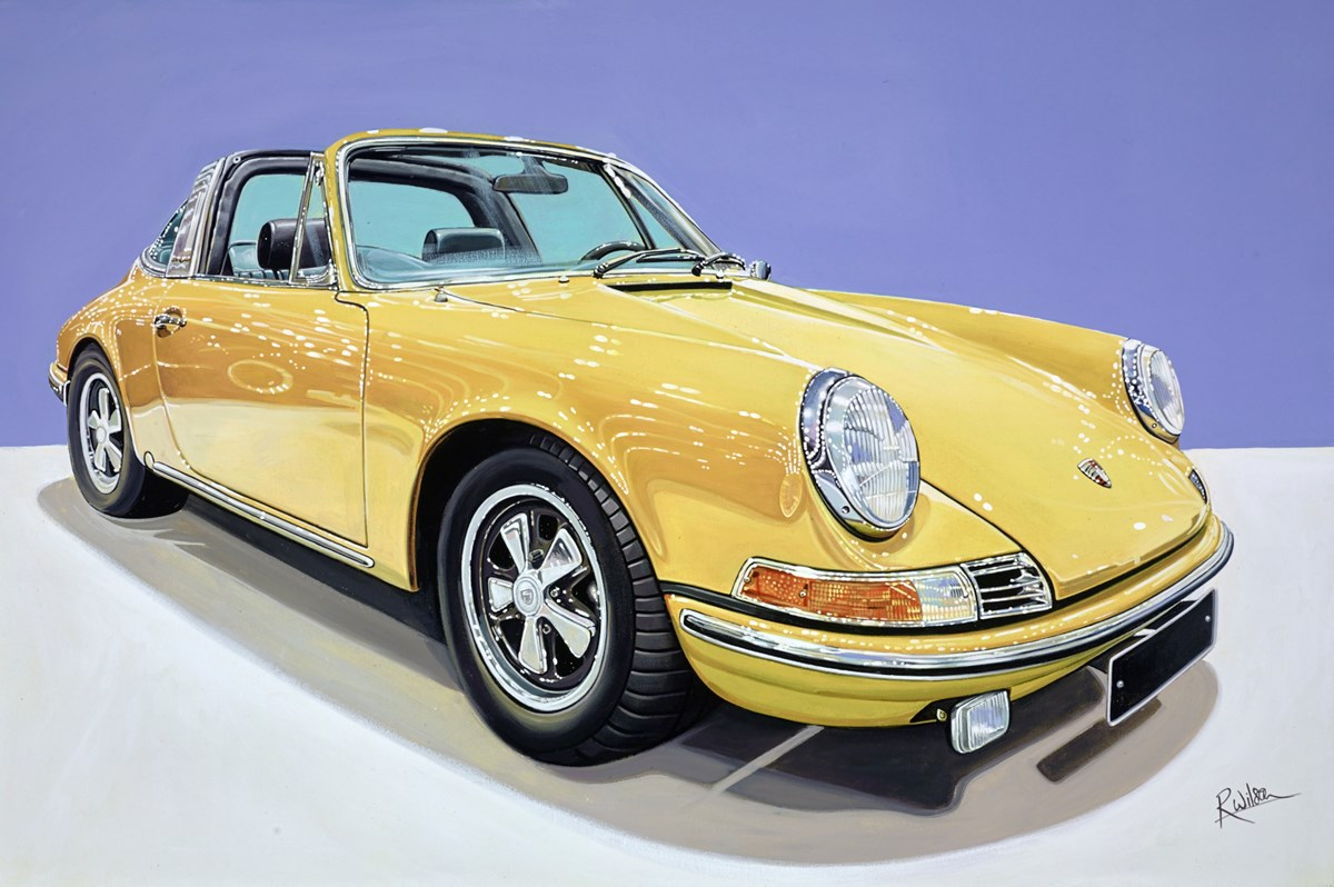 1966 Porsche 911 Targa by roz wilson -  sized 36x24 inches. Available from Whitewall Galleries
